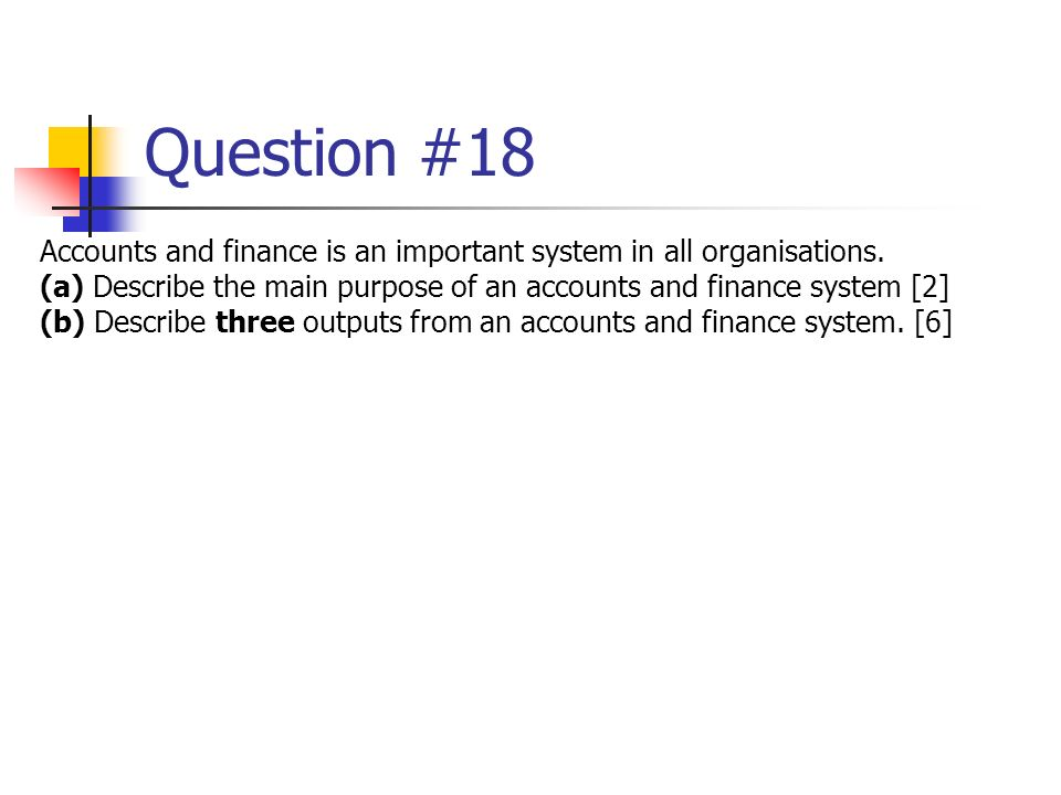 questions on finance and accounts The accountant interview as of may 2017, there were just over 13 million accountants employed in the united states every business in the nation has an accountant on staff, contracts with an accountant, or relies on an accounting firm to help them manage their financial affairs.